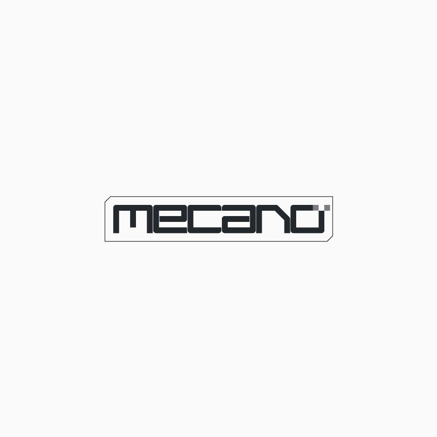 diseño de logotipo de Mecano en blacnoy negro