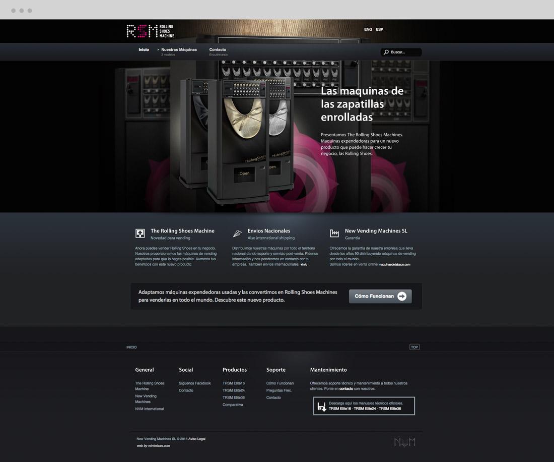 diseño de e-commerce sección Inicio para RSM