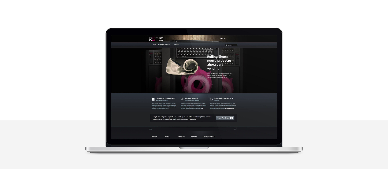 diseño de tienda online responsiva para RSM