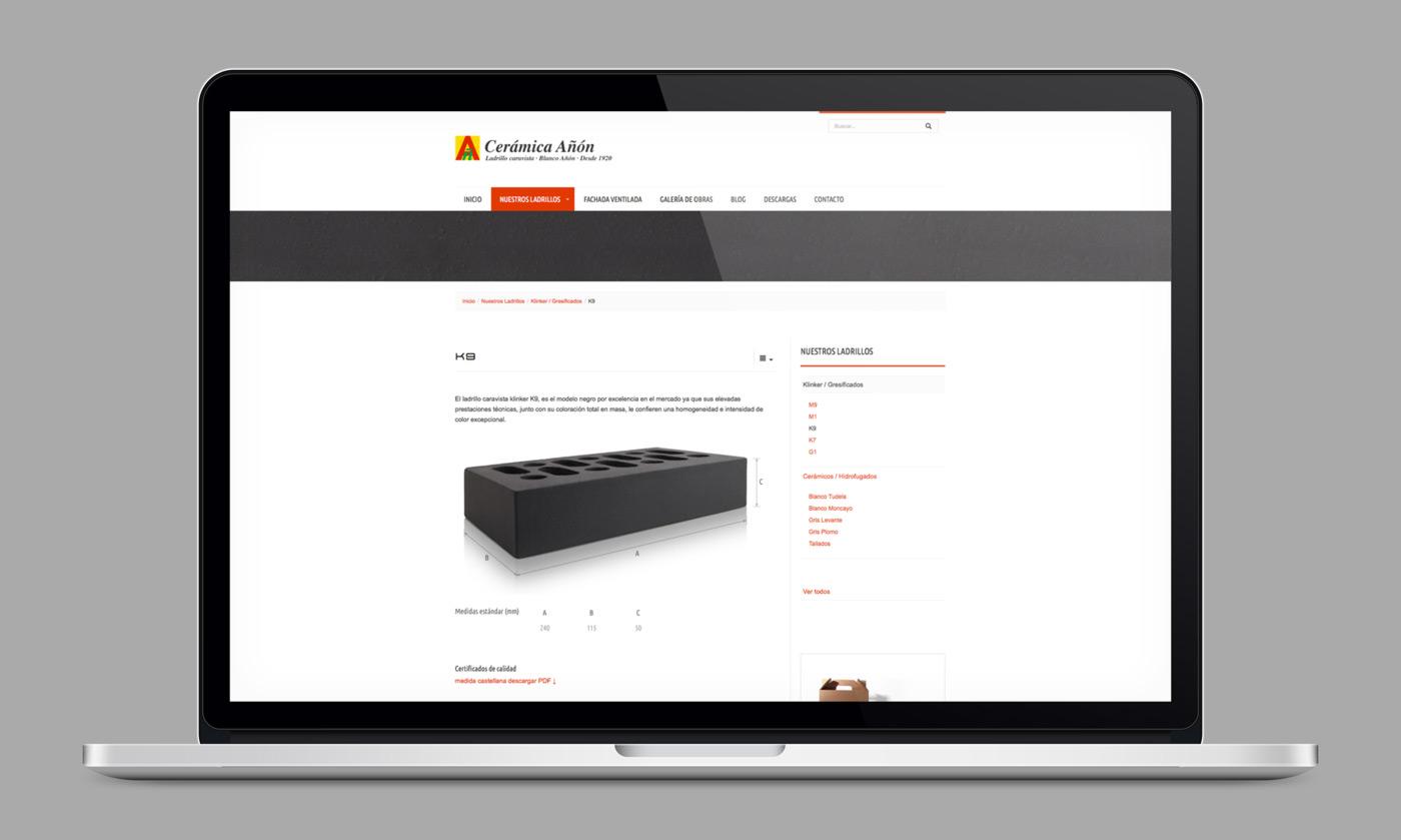 presentación de diseño de catálogo de producto para caravistablanco.com